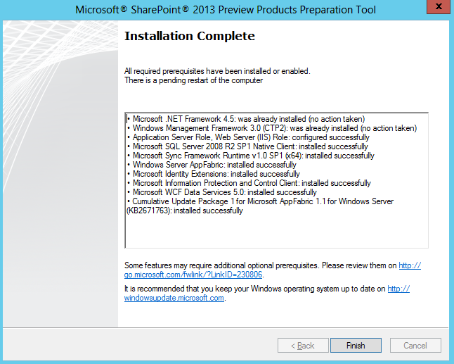 Installing Microsoft Sharepoint Server 2013 Preview Step