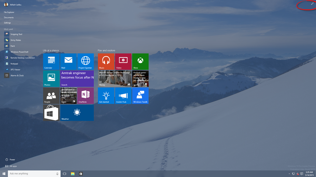 Windows 10 build 10074 start button akfashs weblog comparing to the previous preview versions of windows 10 microsoft has reintroduced the aero glass effect in windows 7 ccuart Choice Image